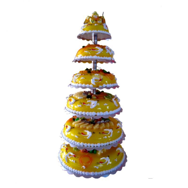 六层祝寿蛋糕 南极仙翁图片